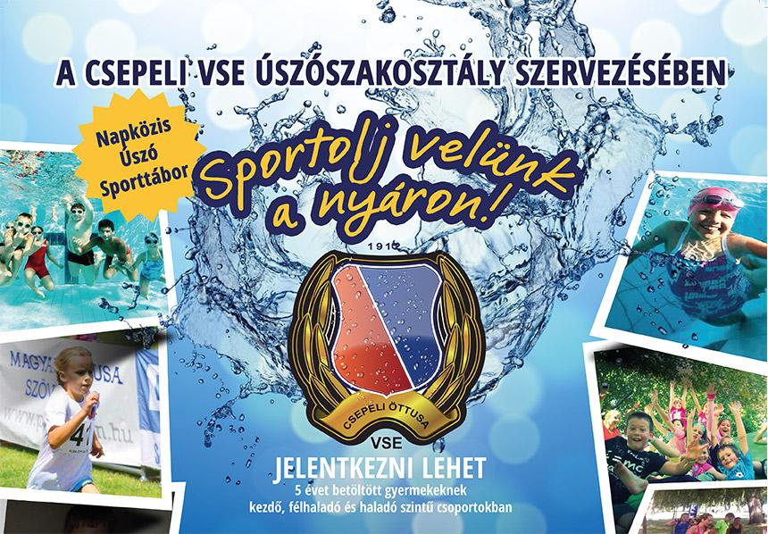 Sportolj velünk a nyáron! Napközis úszó sporttábor